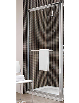 Image of Twyford Hydr8 Shower Enclosure Side Panel 700mm | H82400CP