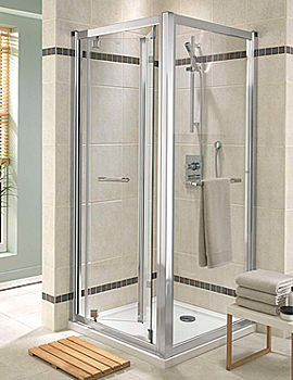 Twyford Geo6 Bi-Fold Shower Enclosure Door 760mm - G63200CP