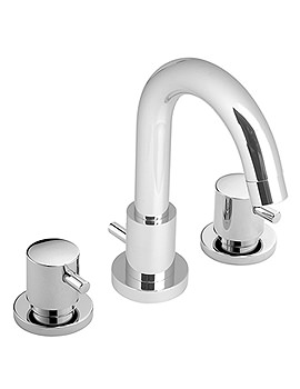 Zoo 3 Hole Deck Mounted Basin Mixer Tap With Pop-Up Waste