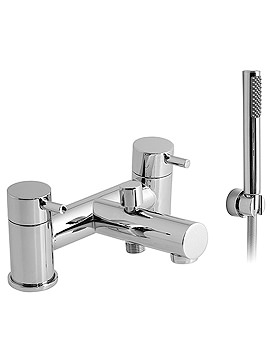Zoo Deck Mounted 2 Hole Bath Shower Mixer With Kit