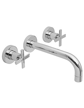 Tonic 3 Hole Wall Mounted Basin Mixer Tap With Long Spout - TON-109L