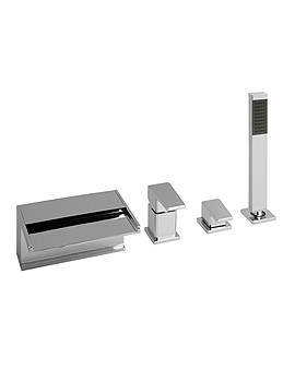 Synergie Deck Mounted 4 Hole Bath Shower Mixer Tap - SYN-132-C/P
