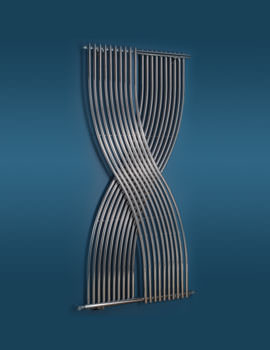 Gemini Textured Anthracite Designer Radiator 796 x 1760mm