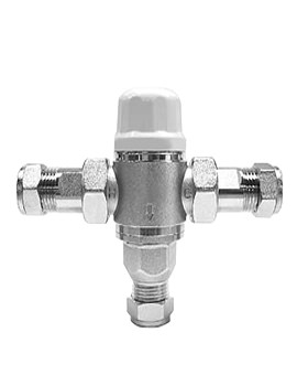 Vado Project Line Protherm In-Line Thermostatic Valve - PRO-5001-W-NP