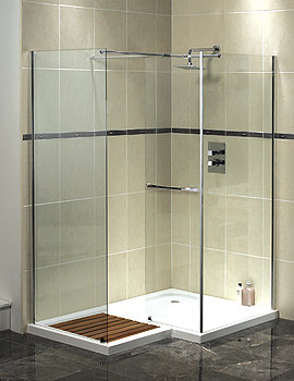 Aqualux Aquaspace Square Walk-In Enclosure 1500 x 1000mm - FEN0830AQU