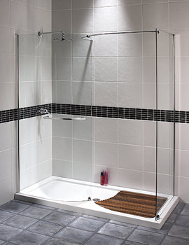Aquaspace Walk-in Shower Enclosure 1400 x 800mm - FEN0124AQU