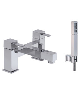 Te 2 Hole Bath Shower Mixer Tap With Shower Kit - TE-130+K