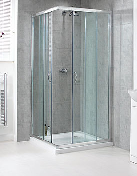 Shine Corner Entry Shower Enclosure 900mm - FEN0893AQU