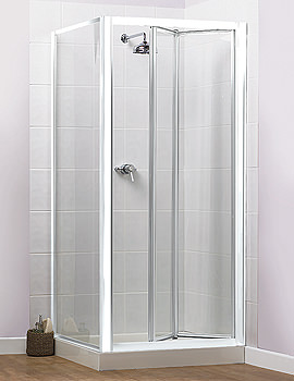 Aqualux Aqua 4 Bi-Fold Shower Door 800mm White - FEN1115AQU