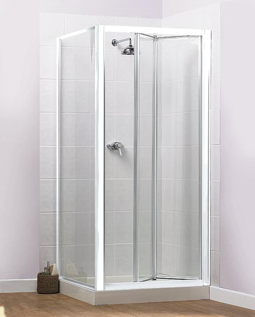 aqualux aqua 4 bi fold shower door 800mm white fen1115aqu