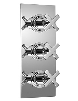 Vado Tonic Concealed 3 Handle Thermostatic Shower Valve - TON-128B-3-4