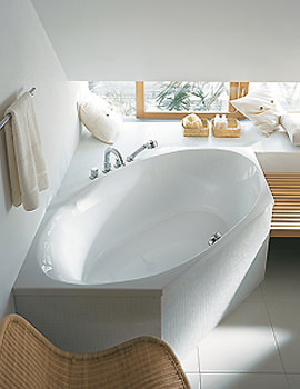 Image of Duravit 2 x 3 Hexagonal Bath Tub 1900 x 900mm | 700025
