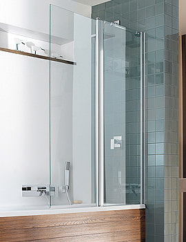 Design Semi Frame-less Double Bath Screen-Outward Opening