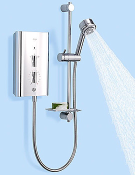 Mira Escape Thermostatic Electric 9.8KW Satin and Chrome - 1.1563.012