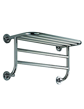Vogue Miniatures Hotel Central Heating Chrome Towel Warmer