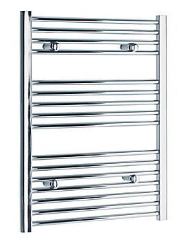 Image of Tivolis Heated Towel Rail Radiator Straight 500 x 800mm