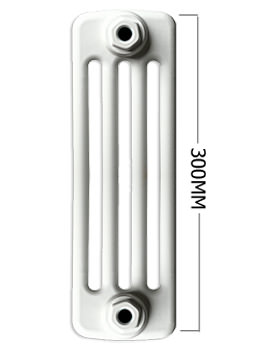 Roma Horizontal 4 Column Steel Radiator 300mm Height