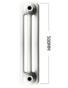 Roma White Traditional 3 Column Radiator 8 Section 400 x 500mm