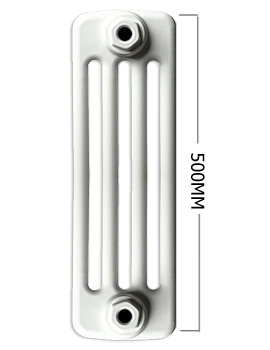 Apollo Roma White 4 Column Radiator 12 Section 600 x 500mm - 4C5H600
