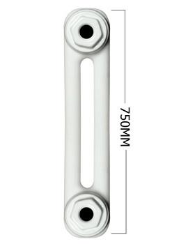 Roma White 2 Column Radiator 8 Section 750 x 400mm - 2C75H400