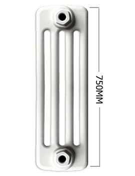 Roma Horizontal 4 Column Steel Radiator 750mm Height