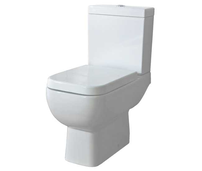 Large Image of RAK Series 600 Close Coupled WC Pack With Standard Seat 600mm