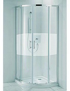 Aqualux Valencia Semi Frameless Silver Shower Quadrant 800mm