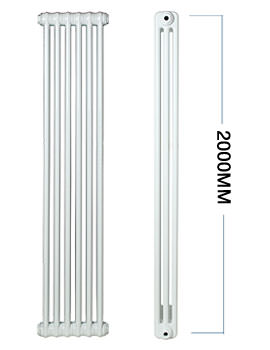Roma Vertical Steel 3 Column Radiator 600 x 2000mm