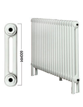 Roma Horizontal 2 Column Steel Radiator With Feets 600mm Height