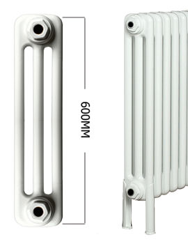 Roma 25 Section 3 Column Radiator Welded Feet 1200 x 600mm