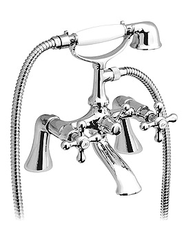 Victoriana Bath Shower Mixer Tap With Kit And Short Legs