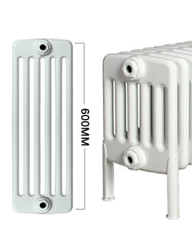 Roma Horizontal 6 Column Steel Radiator With Feets 600mm Height