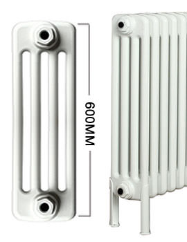 Roma Horizontal 4 Column Steel Radiator With Feets 700mm Height