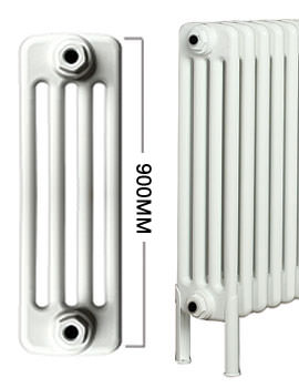 Roma Horizontal 4 Column Steel Radiator With Feets 900mm Height