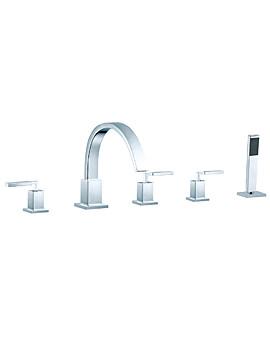Instinct Deck Mounted 5 Hole Bath Shower Mixer Tap - INS-135-3/4