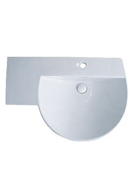 Reserva 1 Tap Hole Winged Basin With Left Hand Shelf 710mm