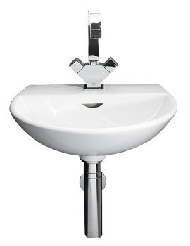 Reserva 1 Tap Hole Wall Hung Hand Basin 400mm - RES40BAS1