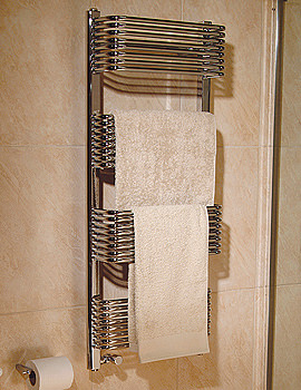 Trieste Superior Plus White Towel Warmer 600 x 1070mm