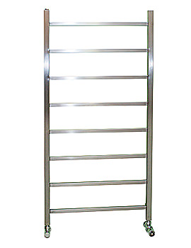 Image of Apollo Genova Brushed Stainless Steel Towel Rail 600 x 1200