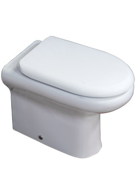 Compact Back To Wall WC Pan With Soft-Close Toilet Seat 510mm