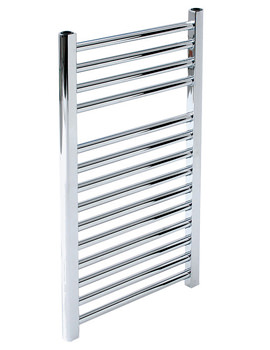 Napoli 300 x 1100mm Chrome Straight Multirail Towel Radiator