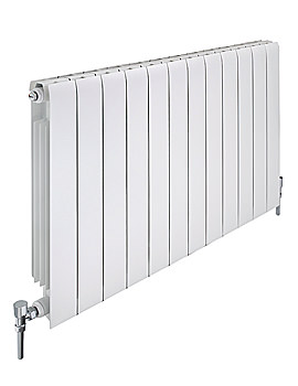 Apollo Modena 1200 x 380mm Horizontal Aluminium Radiator - FALH3H15S