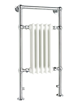 Ravenna Traditional Towel Rail Chrome 500mm x 952mm - SR4