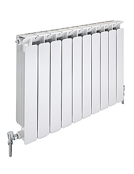 Modena Flat Aluminium Radiator 680mm x 640mm - 8 Section