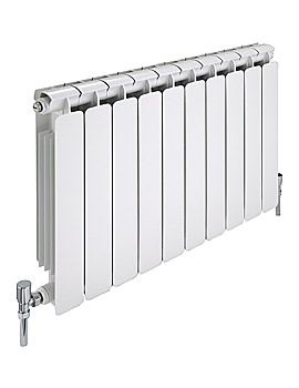 Modena 10 Section Curved Aluminium Radiator 880 x 800mm