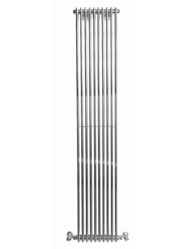 Rimini Straight Single Tube-on-Tube Radiator 400x1800mm Chrome