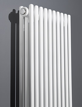 Rimini 1800mm Height Straight Double Tube-On-Tube Radiator White