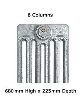 Apollo Firenze 13 Sections 6 Column Cast Iron Radiator 680mm