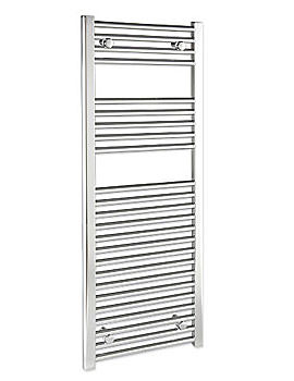 Curved 750 x 1400mm Chrome Towel Rail - CURCR75140