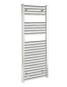 Straight 600 x 1400mm Chrome Towel Rail - STRCR60140